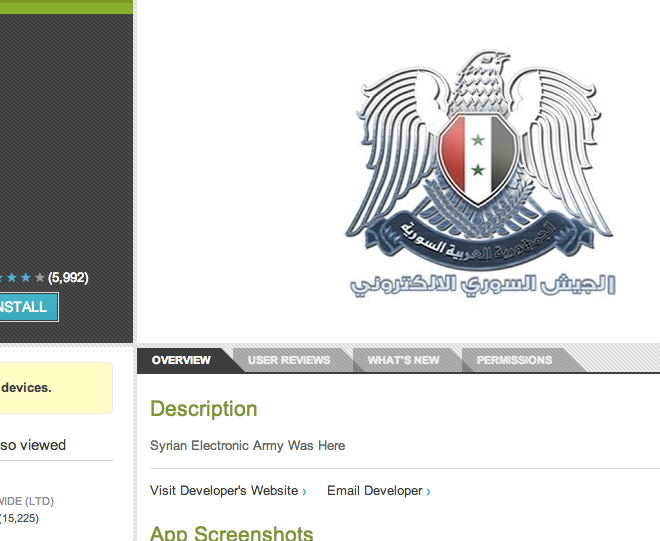 Syrian Electronic Army compromises Sky News Android app