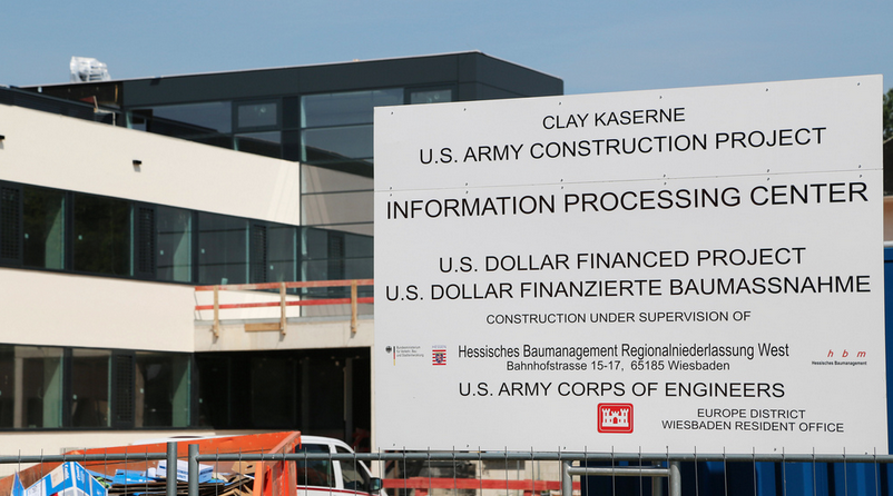 A U.S. Army Cyber Center under construction in Europe. (Photo: U.S. Army Corps of Engineers)