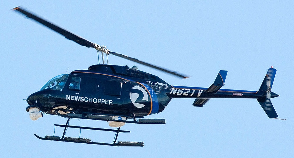 A photo of KTVU's news helicopter (Flickr: pointnshoot)