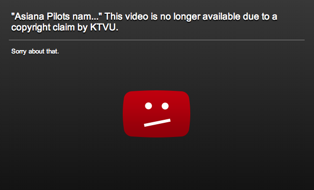 KTVU orders gaffe videos pulled from YouTube