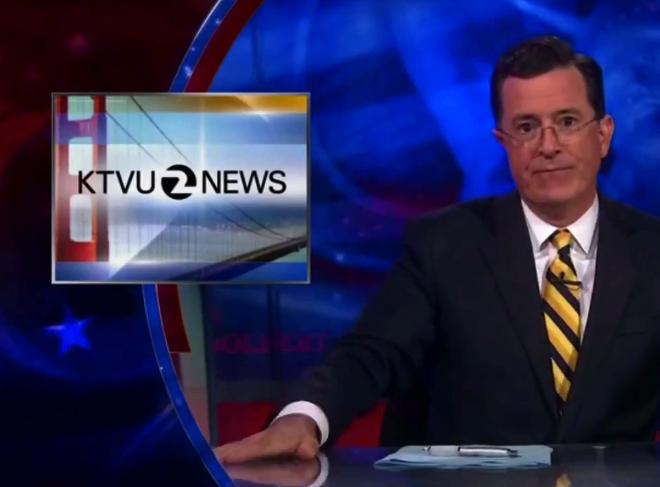 """""""Colbert Report"""" lampoons KTVU Asiana gaffe"""