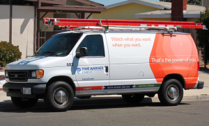 A Time Warner Cable service truck in California (Flickr: Carbon Arc)