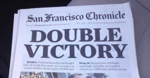 An edition of the San Francisco Chronicle newspaper.