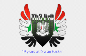 "Logo used on the weblog of Syrian Electronic Army hacker ""Th3 Pro."""