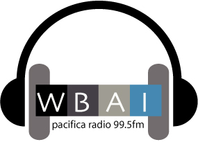 The logo of Pacifica Radio station WBAI-FM.
