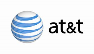 The corporate logo for AT&T.