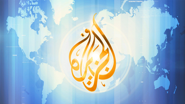 The logo of Al Jazeera.