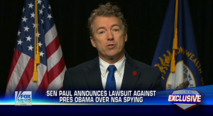 U.S. Senator Rand Paul announces his plans to sue the Obama administration. (FOX News)