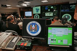 Computer monitors inside the NSA's Threat Operations Center. [Public domain image]