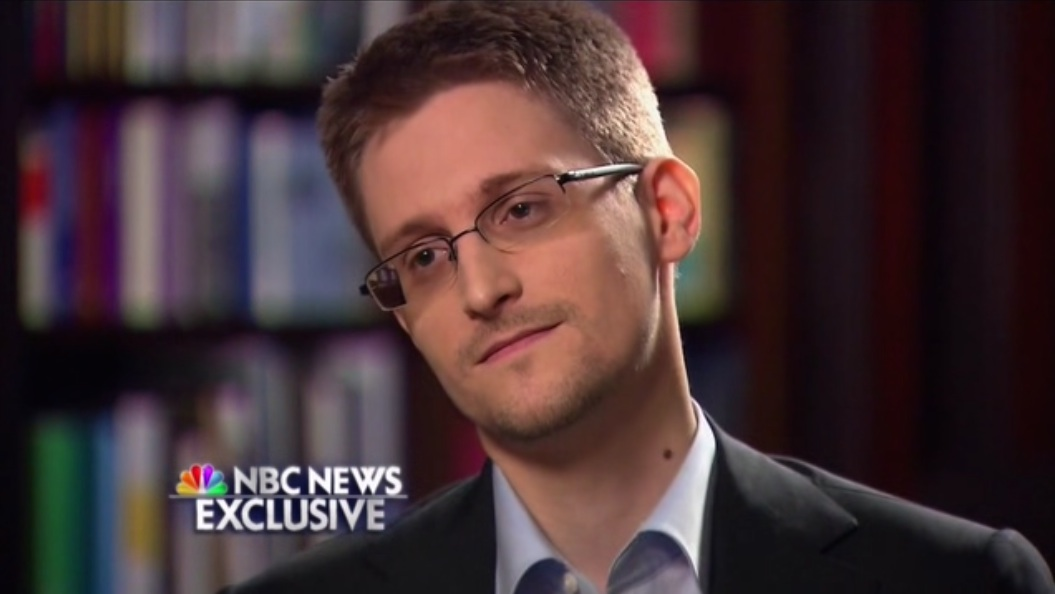 Image: An avatar of Edward Snowden in 2002 on the left, and a picture