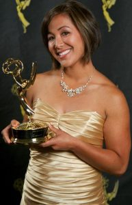 KTXL reporter Sabrina Rodriguez, pictured with an Emmy statuette. (Photo: Sabrina Rodriguez via Facebook.com)