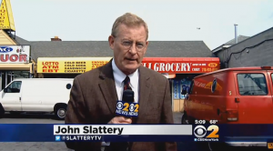 WCBS-TV reporter John Slattery in what would be his final broadcast for the station before his death on Wednesday. (Photo: WCBS-TV)