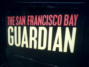 A newspaper box for the San Francisco Bay Guardian. (Photo: David Pursehouse/Flickr)