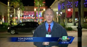 Reporter Tom DuHain appears in a news broadcast on KCRA-TV. [Photo: KCRA-TV, supplied to The Desk]