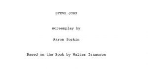 "The title page of the apparent script for the forthcoming Aaron Sorkin film ""Steve Jobs."" (Photo: The Desk via Scribd)"