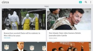 The Circa News app as it appears on an Android tablet. (Photo: Circa/Handout)