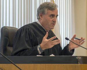 Sacramento Superior Court Judge Christopher Krueger discusses Mayor Kevin Johnson's email during a hearing on July 2, 2015. (Photo: The Sacramento Bee/Handout/Pool)