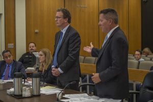 Peter L. Haviland (right) addresses the court alongside Thomas Burke (left), an attorney representing the Sacramento News & Review newspaper, during a hearing on July 2, 2015. (Photo: Renée C. Byer / The Sacramento Bee / Pool)
