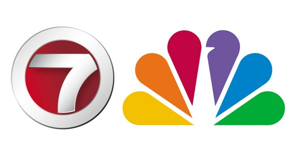 The logos of WHDH-TV Channel 7 and NBC Network.
