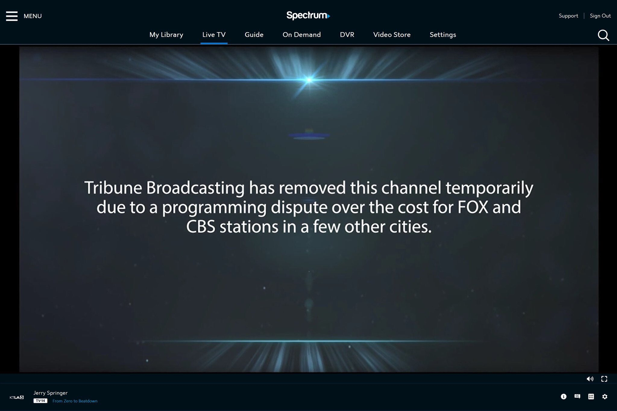 Tribune pulls channels off Spectrum cable systemsThe Desk
