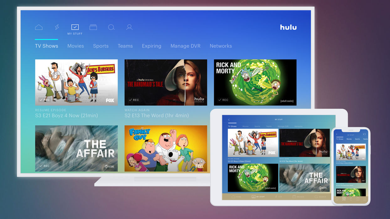 The splash screen for Hulu on TV, tablet and mobile devices. (Photo: Hulu/Handout)