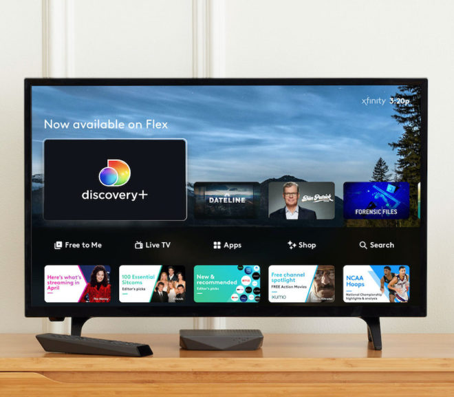 Comcast rolls out Discovery Plus to Flex users